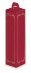 Faltschachtel<br/>1er Rot-Gold Wein/Sekt<br/>330 x 90 x 90 mm