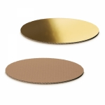 Dekoplatte -S-<br/>Gold-Metallic/Natur oval<br/>200 x 150 mm