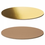 Dekoplatte -M-<br/>Gold-Metallic/Natur oval<br/>300 x 200 mm