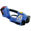 Akku-Umreifungsgerät<br/>OR-T 250<br/>Bedienung per Knopfdruck<br/>für <b>9/16 mm</b> breite<br/>und <b>0,5-1,0 mm</b> starke<br/> <b>PP</b>- und <b>PET</b>-Umreifungsbänder<br/>Verschlussart: Reibschweißverschluss