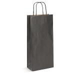 2er Flaschen-Papiertragetaschen<br/>180 x 80 x 390 mm<br/>Fb. schwarz, 110 g/m²