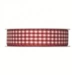Geschenkband Vichy-Karo<br/>Rot<br/>25 m x 25 mm