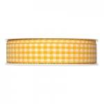 Geschenkband Vichy-Karo<br/>Gelb<br/>25 m x 25 mm