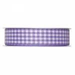 Geschenkband Vichy-Karo<br/>Lavendel<br/>25 m x 25 mm