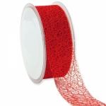 Geschenkband Netz rot<br/>38 mm x 20 m