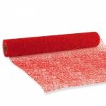 Tischläufer Netz rot<br/>280 mm x 2,5 m