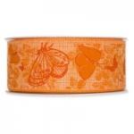 Geschenkband <br/>Schmetterlinge<br/>40 mm x 20 m<br/>Orange