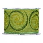 Geschenkband Curly Glitter<br/>mit gewebter Kante<br/>Fb. Grün<br/>10 m x 60 mm
