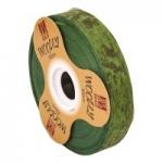 Geschenkband Woodly<br/>Fb. Grün<br/>100 m x 24 mm