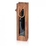"""1er Papiertragetasche<br/> """"Timber"""" <br/>mit Fenster<br/>100 x 85 x 360 mm"""