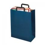 farb. Papier-Tragetasche<br/>220 x 105 x 360 mm<br/><b>blau</b>, 70 g/m²