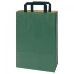 farb. Papier-Tragetasche<br/>220 x 105 x 360 mm<br/><b>grün</b>, 70 g/m²