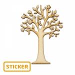 Baum<br/>5 x 3 cm<br/>6 Sticker/Karte