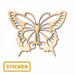 Schmetterling<br/>4 x 3,2 cm<br/>6 Sticker/Karte