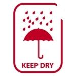 Regenschirm, rot<br/>keep dry<br/>74 x 105 mm