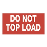 Do not top load<br/>165 x 55 mm