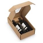 Flaschenkarton mit Sichtfenster<br/>200 x 335 x 90 mm<br/>geeignet für 2 Flaschen