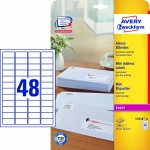 45,7 x 21,2 mm<br/>48 Etiketten/Blatt