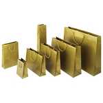 Lackpapier-Tragetasche<br/>120 x 70 x 160 mm<br/>gold