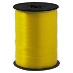 Geschenkband Standard<br/>500 m x 7 mm<br/>Farbe: <b>gelb</b>