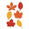 Filz-Sticker <br/>Herbstlaub Bunt<br/>Ø 5 cm<br/>8 Karten á 6 Filzsticker