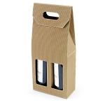 Flaschenverpackung<br/>180 x 90 x 410 mm<br/>geeignet für 2 Flaschen<br/>mit Sichtfenster