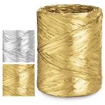 Geschenkband Bast-Effekt metallic<br/>200 m x 15 mm<br/>Fb. <b>Gold</b>