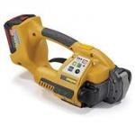 Akku-Umreifungsgerät<br/>Strapex STB 70<br/>Bedienung per Knopfdruck<br/>für <b>12/16 mm</b> breite<br/> <b>PP</b>- und <b>PET</b>-Umreifungsbänder<br/>Verschlussart: Reibschweißverschluss
