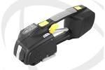 Akku-Umreifungsgerät<br/><b>LS-ZP92</b><br/>Einhandbedienung<br/>für <b>9/16 mm</b> breite<br/>und <b>0,73-1,27 mm</b> starke<br/> <b>PP</b>- und <b>PET</b>-Umreifungsbänder<br/>Verschlussart: Reibschweißverschluss