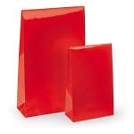 Lackpapier-Beutel<br/>100 x 40 x 157 mm<br/>rot
