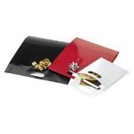 Lackpapier-Beutel mit Griffloch<br/>200 x 80 x 240 mm<br/>schwarz