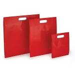 Lackpapier-Beutel mit Griffloch<br/>200 x 80 x 240 mm<br/>rot