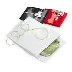 Lackpapier-Beutel mit Griffloch<br/>200 x 80 x 240 mm<br/>weiss