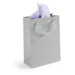 Lackpapier-Tragetasche<br/>190 x 100 x 270 mm<br/>grau