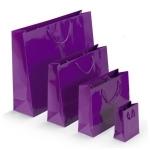 Lackpapier-Tragetasche<br/>120 x 70 x 160 mm<br/>violett