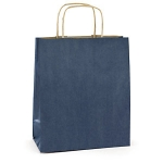 farb. Papier-Tragetasche<br/>250 x 90 x 320 mm<br/><b>blau</b>, 110 g/m²