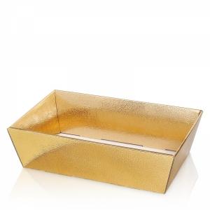 Präsentkörbe 4-eckig<br/>Fb. Creme, Gold metallic