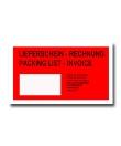 Rote Dokumententaschen Lieferschein - Rechnung<br/>mit Adress-Fenster