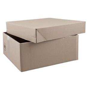 Kartons mit abnehmbarem Deckel<br/>in braun oder weiß