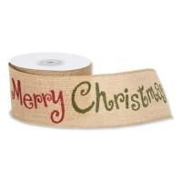 Geschenkband Jute<br/>Merry Christmas