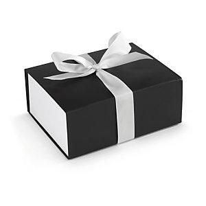 Geschenkbox mit weißer Schleife