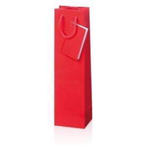 Papiertragetasche Glanzlack<br/>Fb. Rot, Fb. Schwarz