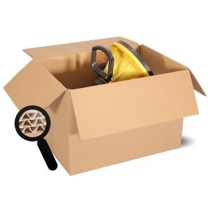 3 Wellige Kartons Braun Und Container