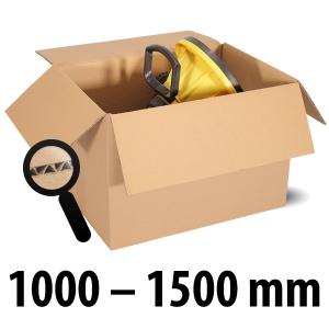 1-wellige Kartons, braun<br/>Kartonlängen von 1000 mm - 1500 mm