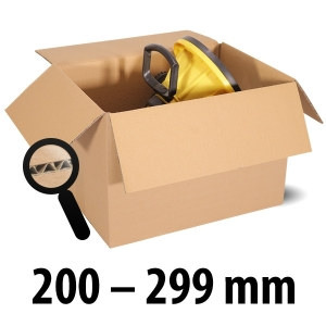 1-wellige Kartons, braun<br/>Kartonlängen von 200 mm - 299 mm