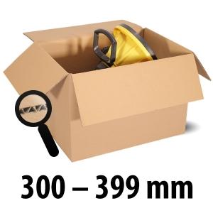 1-wellige Kartons, braun<br/>Kartonlängen von 300 mm - 399 mm