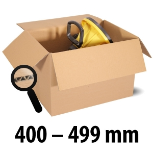 1-wellige Kartons, braun<br/>Kartonlängen von 400 mm - 499 mm