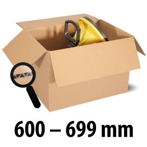 1-wellige Kartons, braun<br/>Kartonlängen von 600 mm - 699 mm