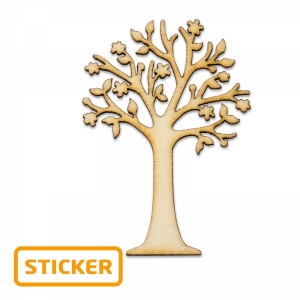 Holzsticker, sortiert