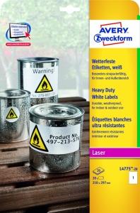 AVERY Zweckform <br/>Wetterfeste Folienetiketten